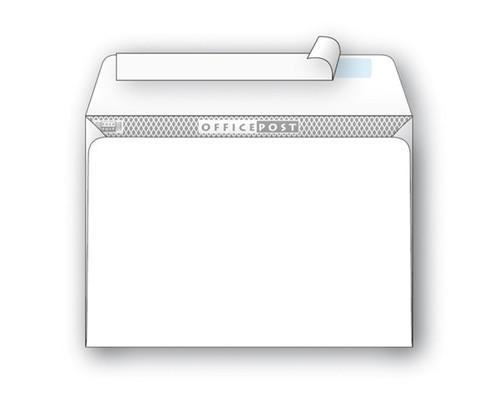Конверт почтовый OfficePost С5 162x229 мм белый удаляемая лента 1000 штук в упаковке - (76402К)