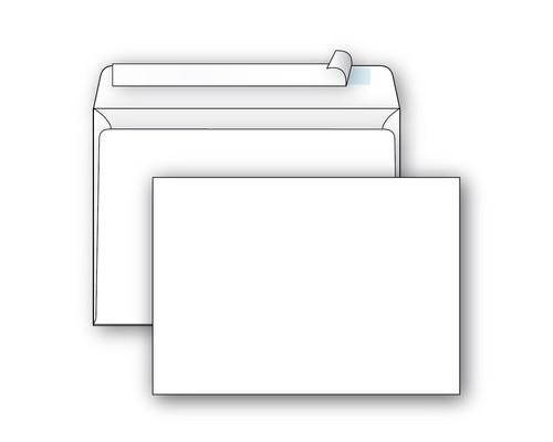 Конверт почтовый Ecopost С5 162x229 мм белый удаляемая лента 1000 штук в упаковке - (390188К)