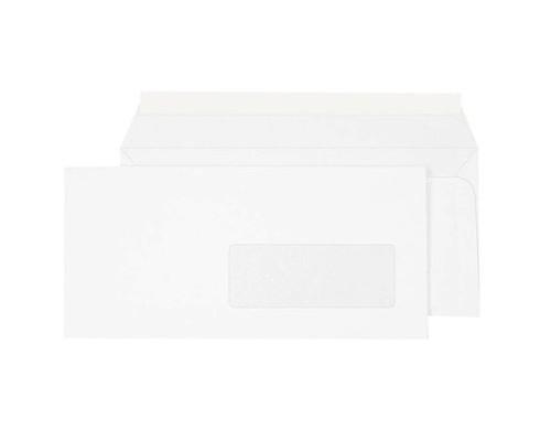 Конверт почтовый Ecopost Е65 110x220 мм белый удаляемая лента правое окно 1000 штук в упаковке - (257248К)