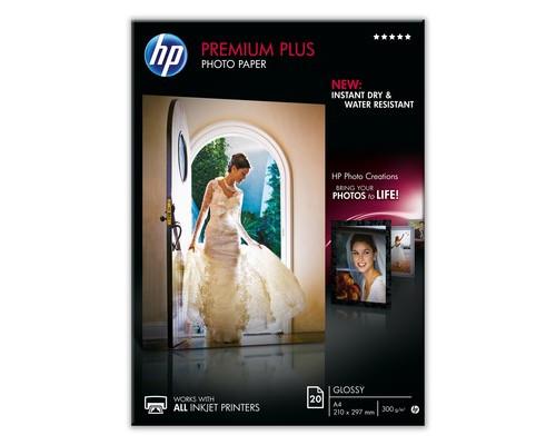 Фотобумага HP СR672A Premuim Plus глянцевая А4 300 г/кв.м 20 листов - (233521К)
