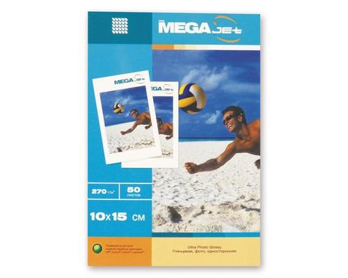 Фотобумага MEGA Jet Ultra Photo глянцевая 10х15 270 г/кв.м 50 листов - (56227К)
