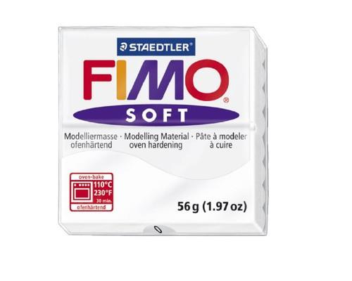 Глина полимерная белая,56гр,запек в печке,FIMO,soft,8020-0