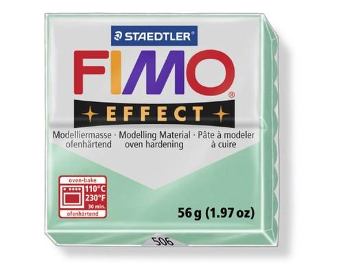 Глина полимерная зелен нефрит,56гр,запек в печке,FIMO,double effect,8020-50