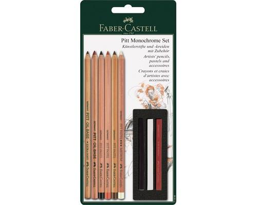 Набор Faber-Castell PITT пастельн. каранд. и пастель 9 пред 112998