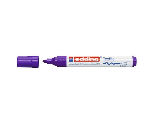 Маркер для текстиля Edding E-4500, фиолетовый_008