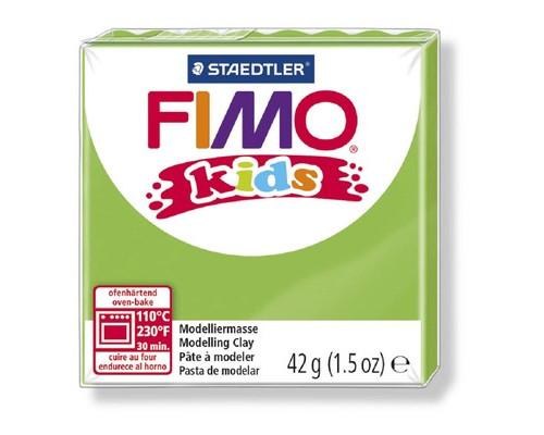 Глина полимерная светло-зеленая, 42гр,FIMO,kids,8030-51