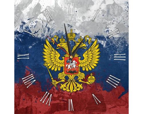 Часы настенные стеклянные прямоугольные Россия 1