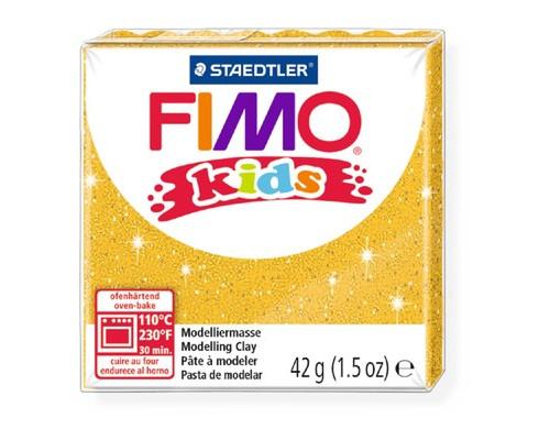 Глина полимерная блестящая золотая,42гр,FIMO,kids,8030-112