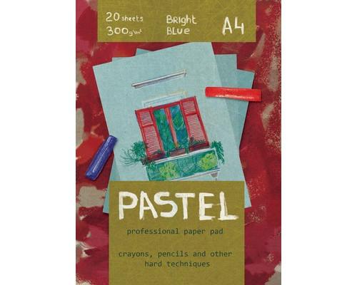 Альбом для пастели 20л,А4,Pastel,блок 300гр,синий,тверд.подложка,арт.06500