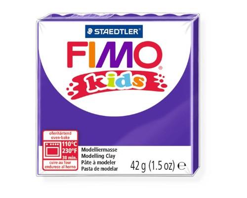 Глина полимерная лиловая, 42гр,FIMO,kids,8030-6
