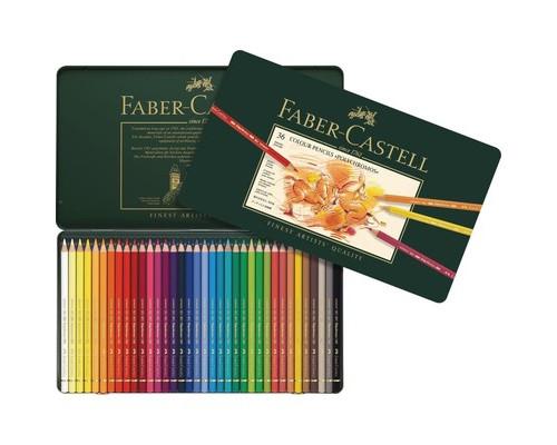 Карандаши цветные 36цв Faber-Castell Polychromos мет короб 110036