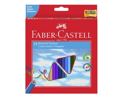 Карандаши цветные ECO с точилкой 24 шт., в картонной коробке, арт.120524