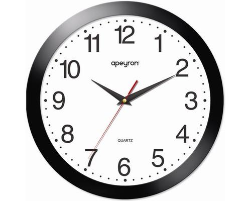 Часы Apeyron PL 1.112, черные, круглые, пластик, плав. ход