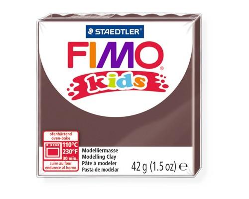 Глина полимерная коричневая, 42гр,FIMO,kids,8030-7