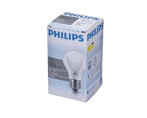 Электрическая лампа Philips стандартная/прозрачная 75W E27 CL/A55 (10/120)
