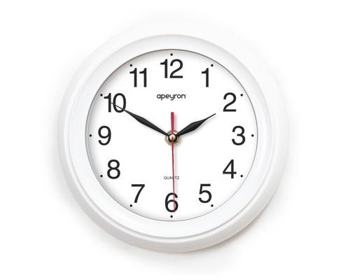 Часы Apeyron PL 98.7, круг., плавн. ход, бел