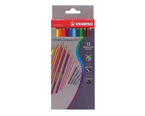 Набор карандашей акварельных 12цв STABILO aquacolor 1612/77-03 Германия