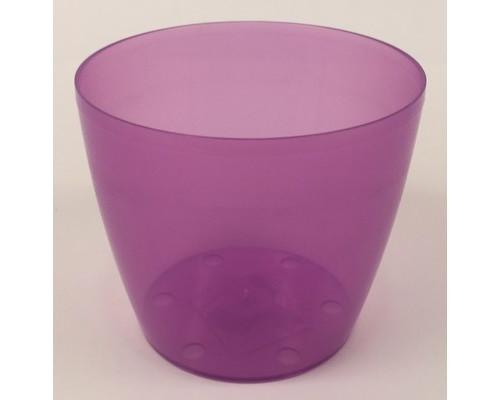 Горшок для цветов д/орхидей d13,5см 1,2л фиолетовый Бл ГФТ 5731