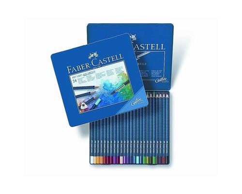 Набор карандашей 24цв мет короб Faber-Castell Art Grip Aquarelle 114224