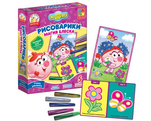 Набор для творчества Рисоварики Магия блеска Нюша, VT4801-09