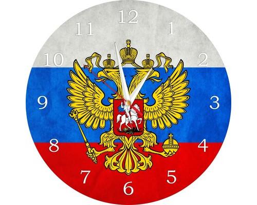 Часы настенные стеклянные круг Россия 2