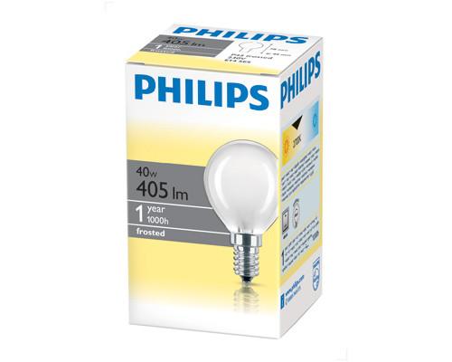Электрическая лампа Philips шарик/матовая 40W E14 FR/P45 (10/100)