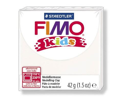 Глина полимерная белая,42гр,FIMO,kids,8030-0