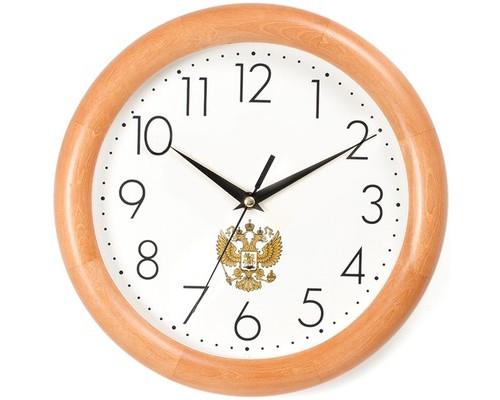 Часы Apeyron WD 1.86 ГЕРБ, дерево, плавн. ход, круг