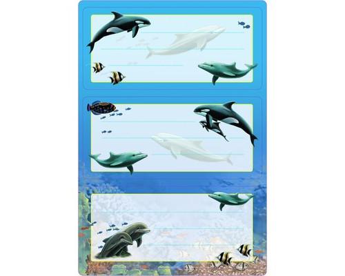 Наклейки д/тетрадей Дельфины 5579