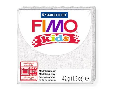 Глина полимерная блестящая белая, 42гр,FIMO,kids,8030-052