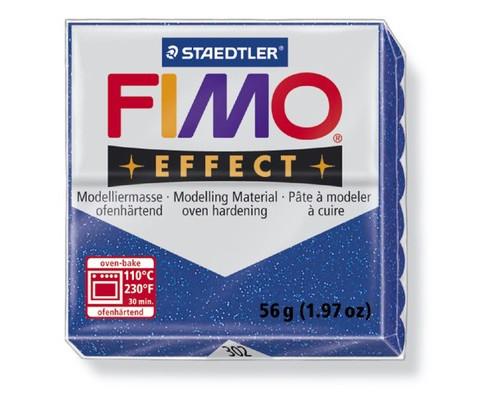 Глина полимерная синяя с блестками,56гр,запек в печке,FIMO,effect,8020-302