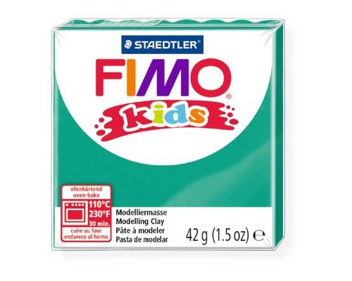 Глина полимерная зеленая,42гр,FIMO,kids,8030-5