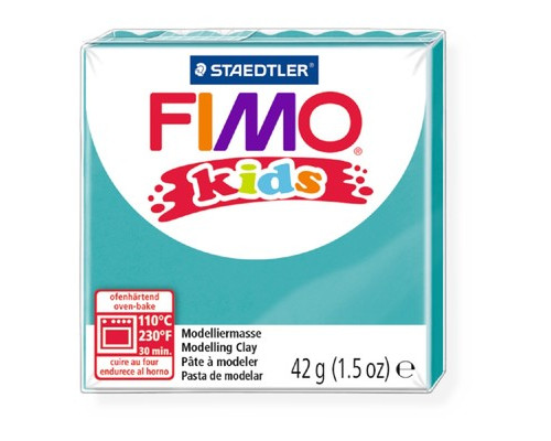 Глина полимерная бирюзовая, 42гр,FIMO,kids,8030-39