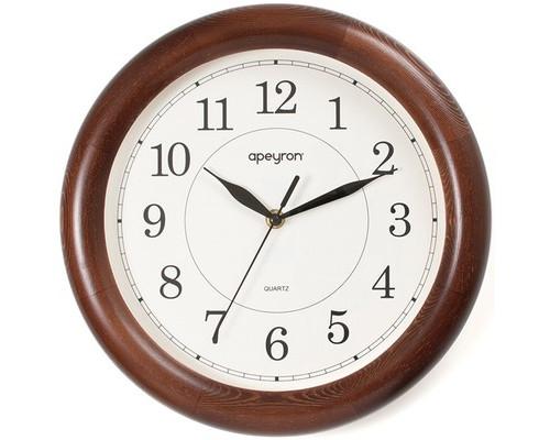 Часы Apeyron WD 01.002, дуб, дерево, плавн. ход, круг