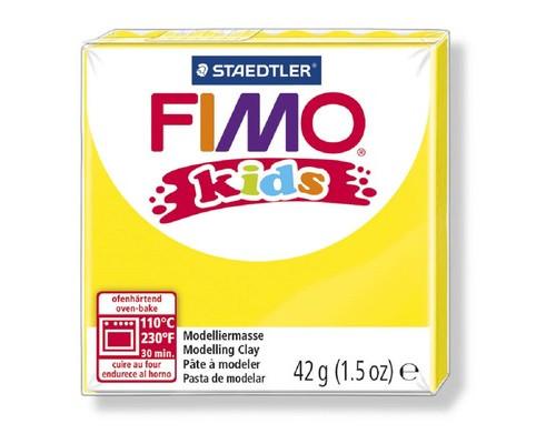 Глина полимерная желтая,42гр,FIMO,kids,8030-1