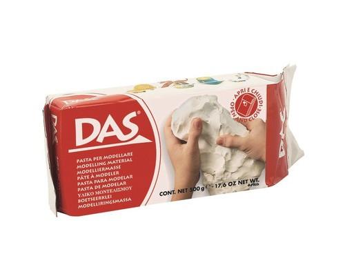 Глина полимерная DAS паста для моделирования, 500гр., белая, 387000