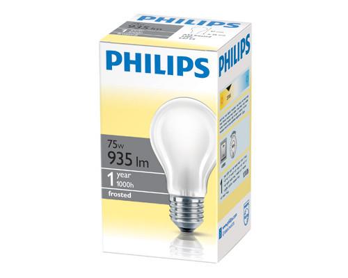 Электрическая лампа Philips стандартная/матовая 75W E27 FR/A55 (10/120)