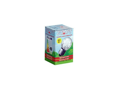 Электрическая лампа Philips шарик/прозрачная 60W E27 CL/P45 (10/100)