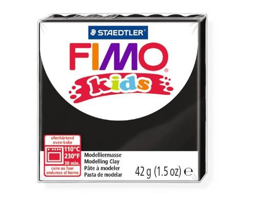 Глина полимерная черный,42гр,FIMO,kids,8030-9