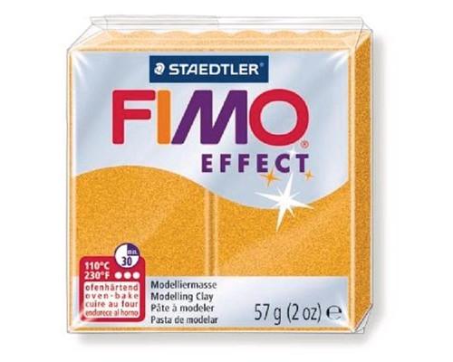 Глина полимерная золотой металлик,57гр,запек в печке,FIMO,soft,8020-11