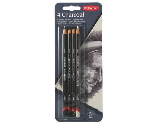 Набор карандашей угольных Derwent Charcoal 4шт блист 39000