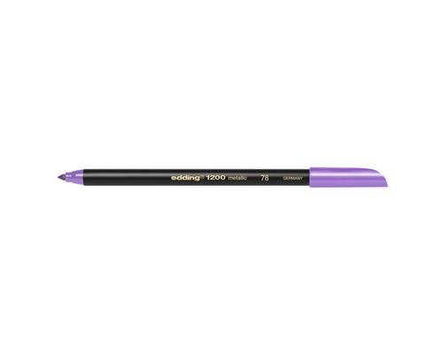 Фломастер металлик,фиолетовый,Edding,1200