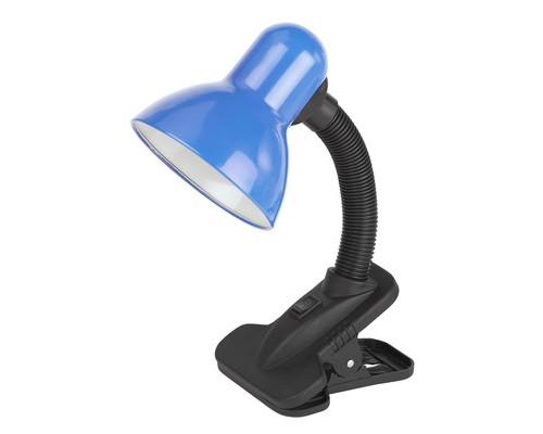 Светильник настольный Эра N-102 синий, Е27, 40W, на прищепке