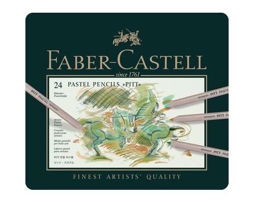Набор карандашей 24цв мет короб Faber-Castell Pitt 112124