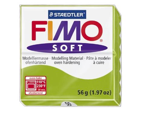 Глина полимерная зеленое яблоко, 56гр,запек в печке,FIMO soft 8020-50