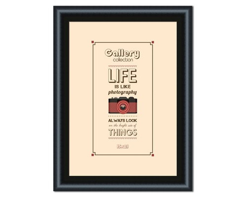 Фоторамка Gallery LIFE 15х21 черный 5111-6X