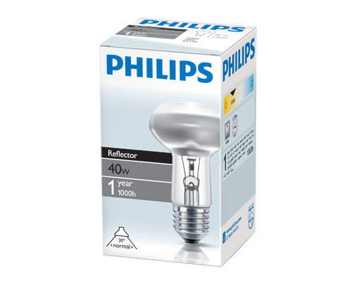 Электрическая лампа Philips рефлект. R63 40W E27 30D (30)