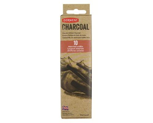 Уголь Derwent Willow Charcoal ивовый 10шт D-2302034