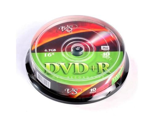 Диск DVD+R VS 4.7 GB 16x 10 штук в упаковке - (166401К)