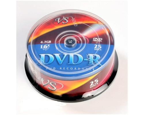 Диск DVD-R VS 4.7 GB 16x 25 штук в упаковке - (166397К)